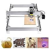 4YANG 5500MW DIY CNC Laser Engraver KitsDesktop USB Laser Carving Engraving Cutting Machine for Leather Wood Plastic, 395x285mm, 2 Axis