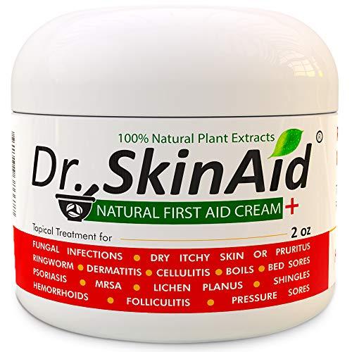 Jock Itch Antifungal Cream Treatment - Maximum Strength Eczema Cream With Tea Tree Oil & Antibiotic Ointment For Toenail Fungus/Athletes Foot/Psoriasis/Ringworm Treatment For Humans (1)