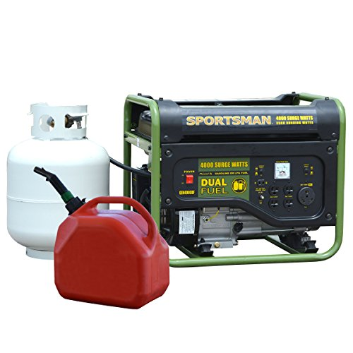 Sportsman GEN4000DF, 3500 Running Watts/4000 Starting Watts, Dual Fuel Powered Portable (Propane Gas Generator)
