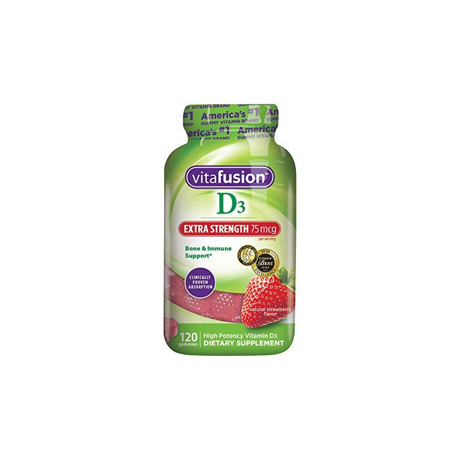 Vitafusion Extra Strength Vitamin D3 Gummy Vitamins, 120 ct
