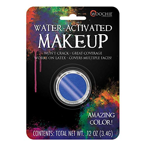 (Woochie Water Activated Makeup - Professional Quality Halloween and Costume Makeup - (Blue, 0.1)