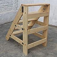 Utilitario Familiar Escaleras de Mano Escalera de Escalera de Servicio Pesado Herramienta para Jardín de Casa Escalera de Pedal Ancha Y Robusta Escalera de Casa Silla Escalera de Madera Taburete, T-: Amazon.es: