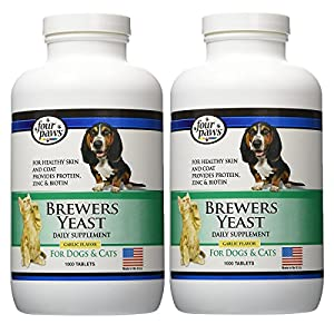 Four Paws Brewers Yeast Garlic Flavored Dog and Cat Tablets , 2000 Count