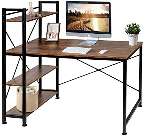 VECELO Computer Office Desk/Multipurpose Study Table H Shape
