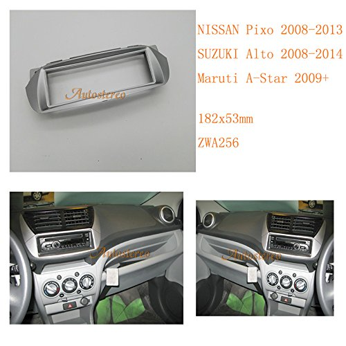 Autostereo Car Radio fascia Kit for NISSAN Pixo 2008-2013 SUZUKI Alto 2008-2014 Maruti A-Star Car Radio Installation Frame