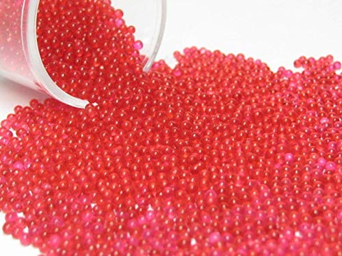 1.5mm -2mm Micro Marbles/Kawaii Sprinkles red Berry Half Ounce / 14 Grams Glass microbeads Miniature Supplies .75mm & 1.5mm to 2mm