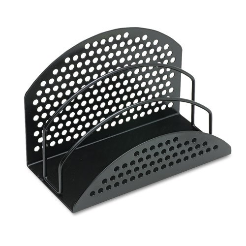 Perf-Ect Mini Sorter, Three Sections, Metal/Wire, 7 x 3 1/2 x 4 7/8, Black, Sold as 1 Each ()
