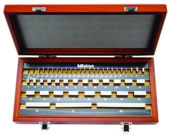 Mitutoyo Steel Rectangular Gage Block Set, ASME Grade 0, Metric