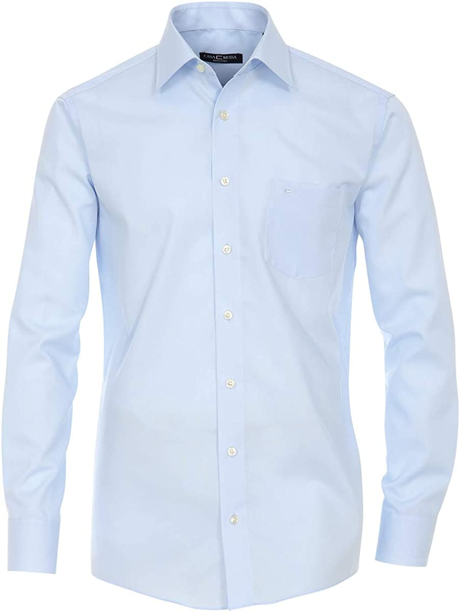Camisa Tallas Grandes Azul Claro Manga Larga Casa Moda ...