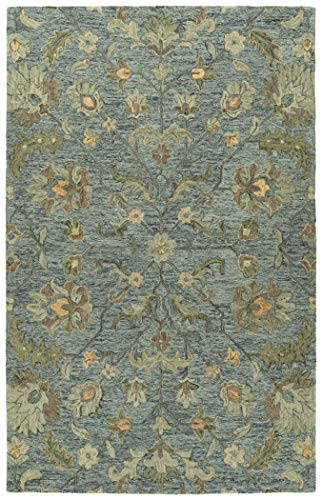 (Kaleen 8' x 10' Wool Area Rug in Azure, Hand-Tufted Rachael Ray Agora)