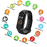 SBA999 ABM410 M4 Bluetooth Wireless Smart Fitness Band for Boys/Men/Kids/Women | Sports Watch Compatible with Xiaomi, Oppo, Vivo Mobile Phone | Heart Rate and BP Monitor, Calories Counter