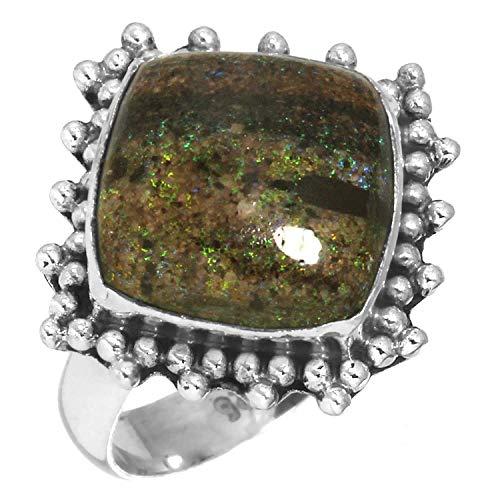 Solid 925 Sterling Silver Ring Natural Honduran Black Matrix Opal Gemstone Latest Jewelry Size 5