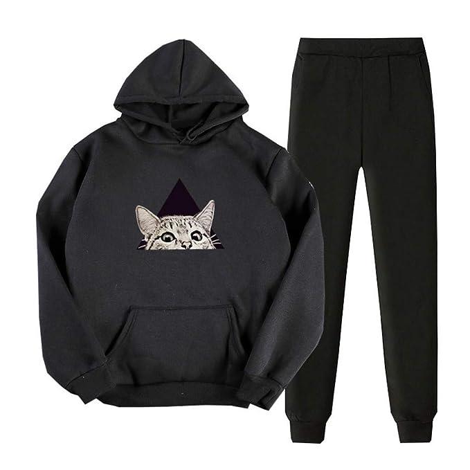 Sudadera con capucha de manga larga con estampado de gatos, con ...