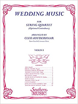 Amazon com: Wedding Music: Violin 1 Part (9781581061819): Cleo