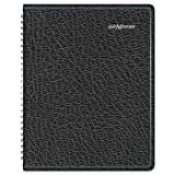 """AT-A-GLANCE Recycled Weekly Planner,Black, 6 7/8"""" x"""