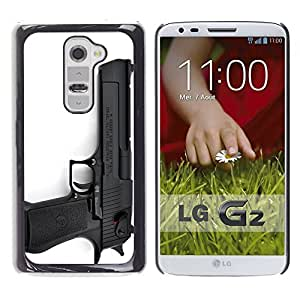 Graphic4You Black Desert Eagle Gun Firearm Design Hard Case Cover for LG G2 by ruishername