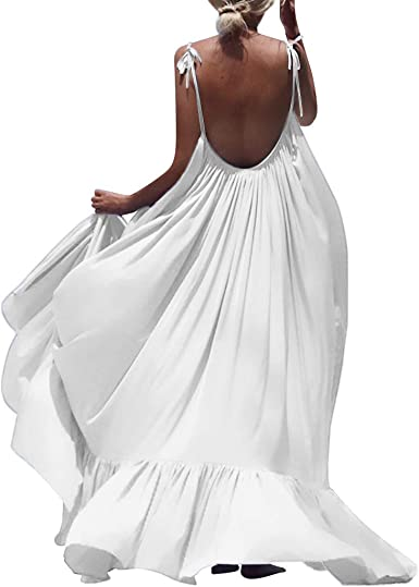 Vestiti Eleganti Xxl.Ujunaor Abito Donna Eleganti Da Cerimonia Apri Indietro Stile