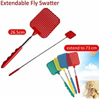 KingNew Fly Swatter With Telescopic Handle Fly Mosquito Insect Swatter Extendable to 73 cm Color Random