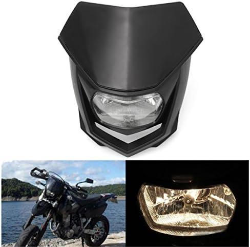 Calaleie 12v 8000lm Motorrad Scheinwerfer Mit Abblendlicht Enduro Dirt Bike Scheinwerfer Universal Motorraddekorationsteile Neu Auto