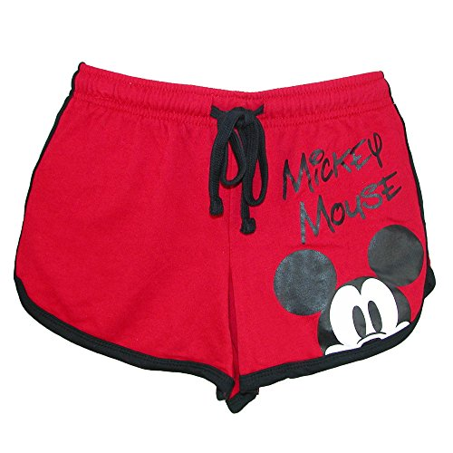 Disney Junior Youth Girls Mickey Mouse Peeking Short Red ()