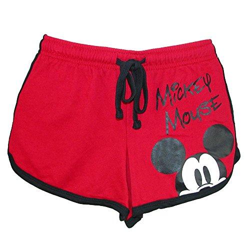 (Disney Junior Ladies Mickey Mouse Peeking Short Red Medium)