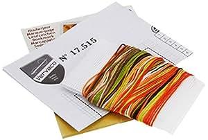 Vervaco - Kit para marcapáginas de punto de cruz, diseño de petirrojo, multicolor