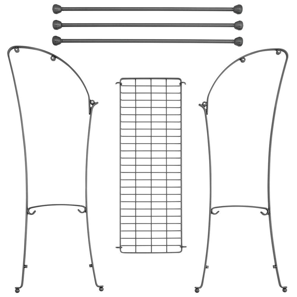 MetroDecor mDesign Colgador de Toallas - Toalleros de pie con 3 Barras - Cuelga Toallas de Metal con Bandeja para Accesorios de baño - Gris: Amazon.es: ...