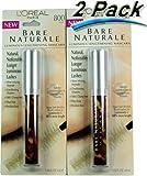 "L'Oreal Paris Bare Naturale Mineral-Enriched Mascara ""800 BLACK"" 0.16-Fluid Ounce (2 Pack) For Sale"
