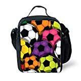 Instantarts Carrying Gourmet Lunchbox for Teenager Boys Soccer Kids Lunchbox
