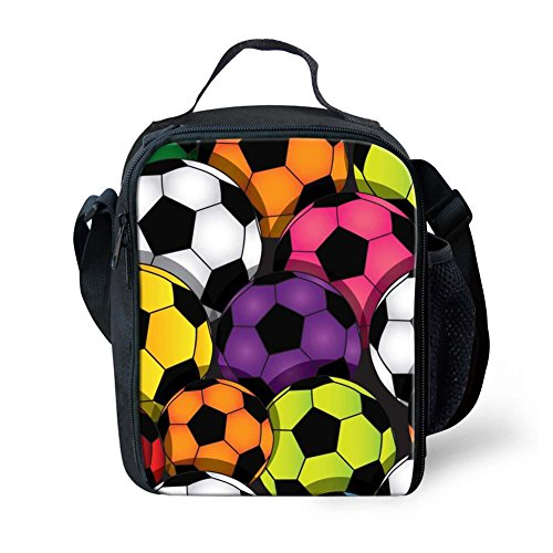 Instantarts Carrying Gourmet Lunchbox for Teenager Boys Soccer Kids Lunchbox by Instantarts