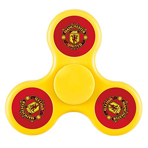 Hunter Hut Manchester United Football Club-Yellow,Hand Spinner Toy for Killing Time,Stress Reducer Relieve Anxiety and Boredom