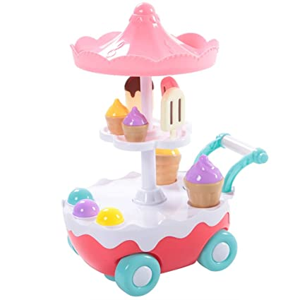 Amazon.com: Simulation Ice Cream Carro de caramelos, mini ...