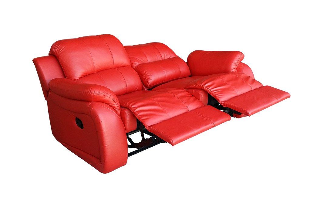 Voll-Leder Fernsehsessel Couch Sofa Relaxsessel Fernsehsofa 5129-2-8401
