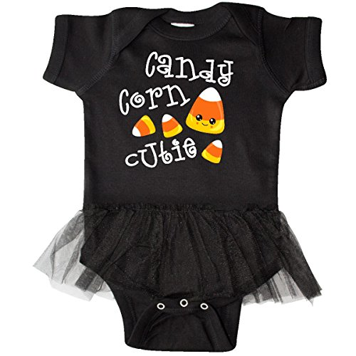 inktastic - Candy Corn Cutie Infant Tutu Bodysuit Newborn Black 2d620