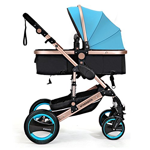 0--36 months baby stroller 2 in 1 stroller lie or damping folding light weight Two-way use four seasons (4) by wisesonle