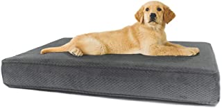 product image for eLuxurySupply Dog Bed - Orthopedic Memory Foam Pet Bed for Dogs & Cats - Waterproof Canvas Cover Featuring LiveSmart Technology - Assembled in The USA - Small, Medium & Large Size