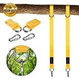 Tree Swing Hanging Kit Hold 2800lbs Hammocks Strap Two 5ft Straps 2 Strap Carabiner Hooks