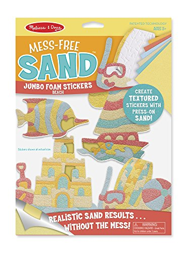 Melissa & Doug Mess-Free Sand Jumbo Foam Beach Stickers Castle Sand Art Bottle