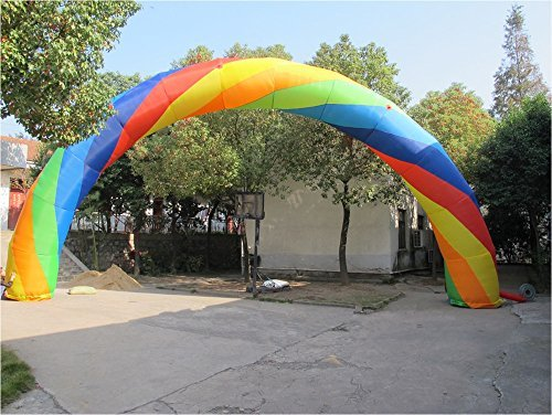 6m Colorful Inflatable Arch 210D Oxford Fabric with PU Coated for Event Entrance Rental Advertisement with Blower by JIAWANSHUN (Image #2)