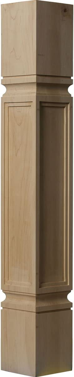 Ekena Millwork COL05X05X35KERW 5-Inch W x 5-Inch D x 35 1/2-Inch H Kent Raised Panel Cabinet Column, Rubberwood