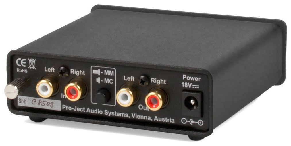 Pro-Ject Audio - Phono Box DC - MM/MC Phono preamp with line Output - Blk by Pro-Ject
