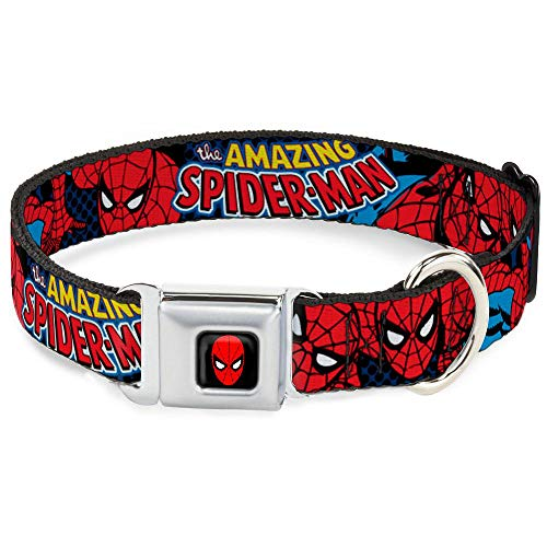 (Buckle Down Marvel Comics Dog Collar SPDA-Spider-Man - Amazing Spider-Man - Small)
