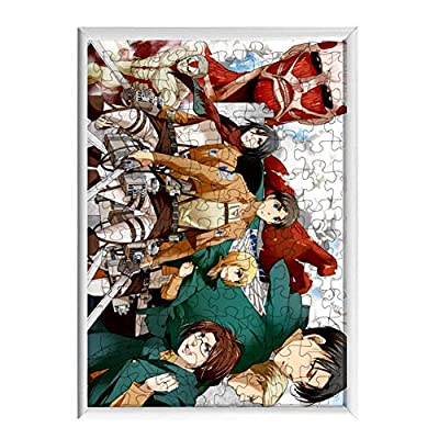 zhentaomaoyi Anime Cartoon Puzzle Jigsaw Puzzle 120 Pieces Wooden Puzzle Children's Educational Toys Puzzles Adult Decompression Toys(Attack on Titan-2): Office Products