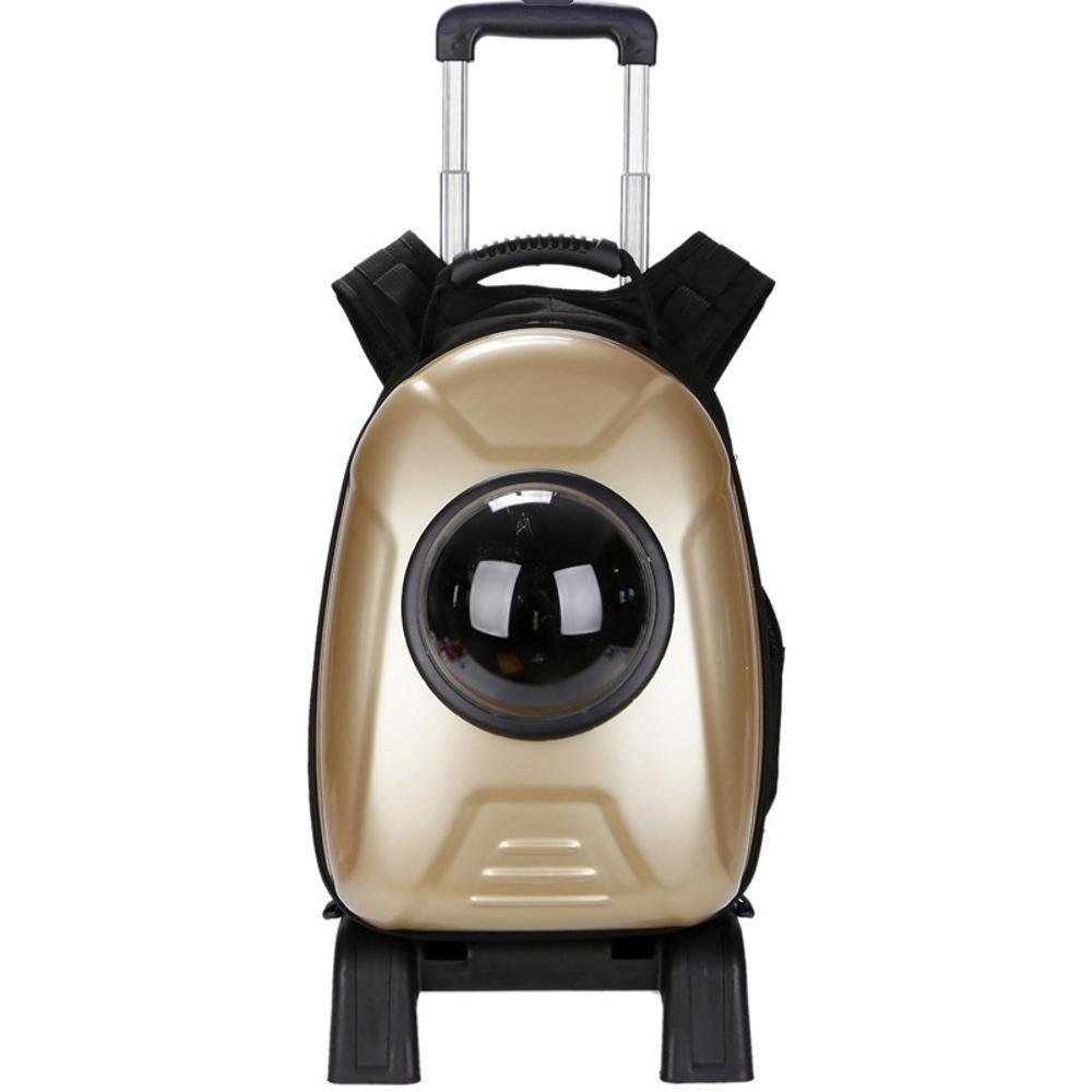 C Daeou Pet Backpack Pet Supplies Space Capsule pet Dog Backpack Breathable pet Out cat Pack Portable Dog Bag Oxford Cloth 30  53  27cm