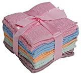 100% Cotton WASHCLOTHS, 10pc Set, Colors may Vary