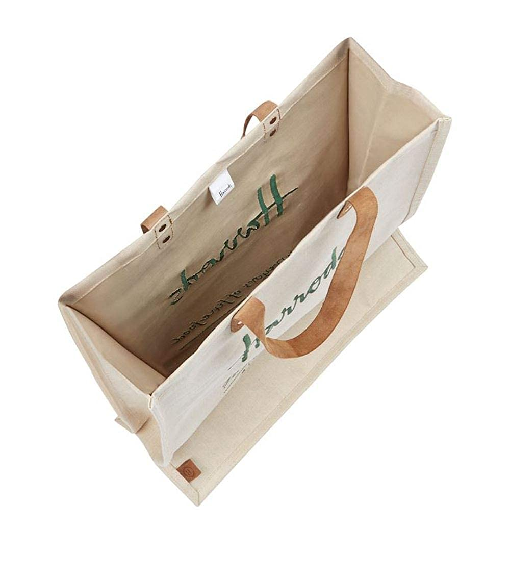 harrods Borsa Embroidered Jute Grocery Shopper Bag ID 5719511  Amazon.it  Scarpe  e borse c90a52921fe