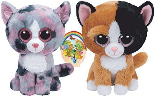 Ty Beanie Boos Cats Friends Tauri And Linda Gift Set Of 2 Plush Toys 6 8 Inches Tall With Bonus Animals Sticker