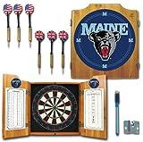 Trademark Gameroom NCAA University of Maine Wood Dart Cabinet Set