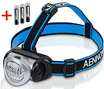 Headlamp Flashlight with Red LED Light - Super Bright, Lightweight & Comfortable, Easy to Use - Perfect for Running, Walking, Camping, Reading, Hiking, Kids, DIY & More, Batteries Included