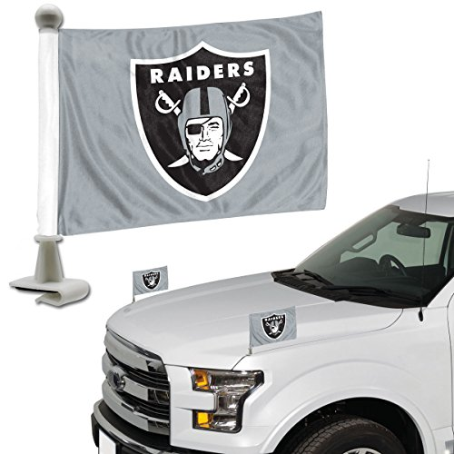 Promark NFL Oakland Raiders Flag Set 2Piece Ambassador Styleoakland Raiders Flag Set 2Piece Ambassador Style, Team Color, One (Raiders Car Flag)